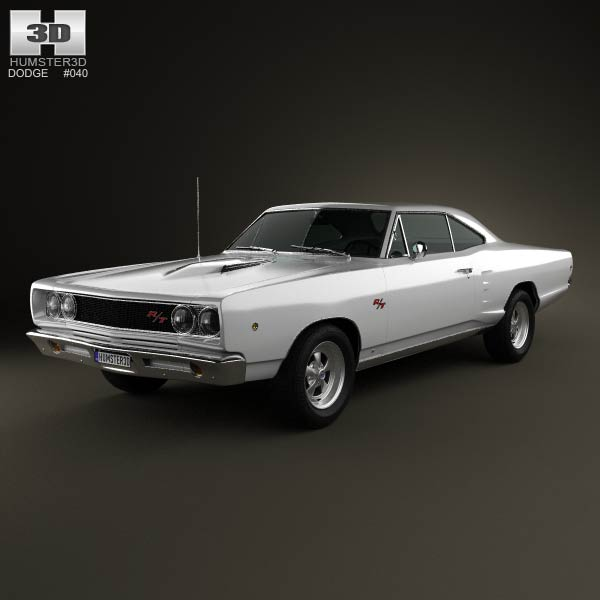 Dodge Coronet R/T Coupe 1968 3d model