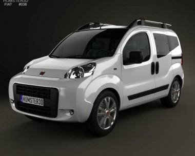 3D model of Fiat Fiorino Qubo 2011
