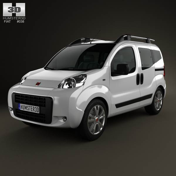 Fiat Fiorino Qubo 2011 3d car model