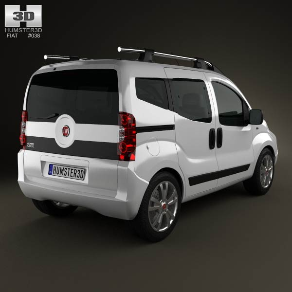 fiat fiorino qubo 2011 3d model humster3d. Black Bedroom Furniture Sets. Home Design Ideas