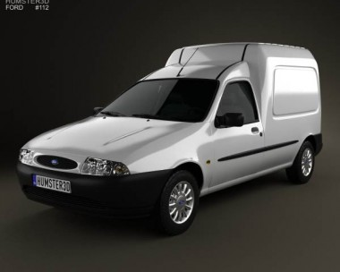3D model of Ford Courier Van UK 1999