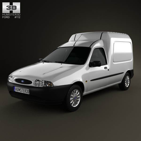 Ford Courier Van UK 1999 3d car model