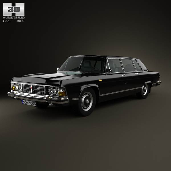 GAZ 14 Chaika 1976 3d car model