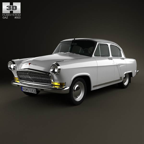 GAZ 21 Volga 1962 3d car model
