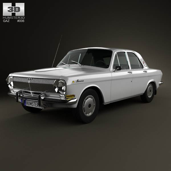 GAZ 24 Volga 1967 3d car model