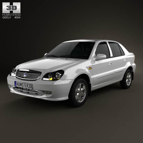 Geely CK (Otaka) 2011 3d car model