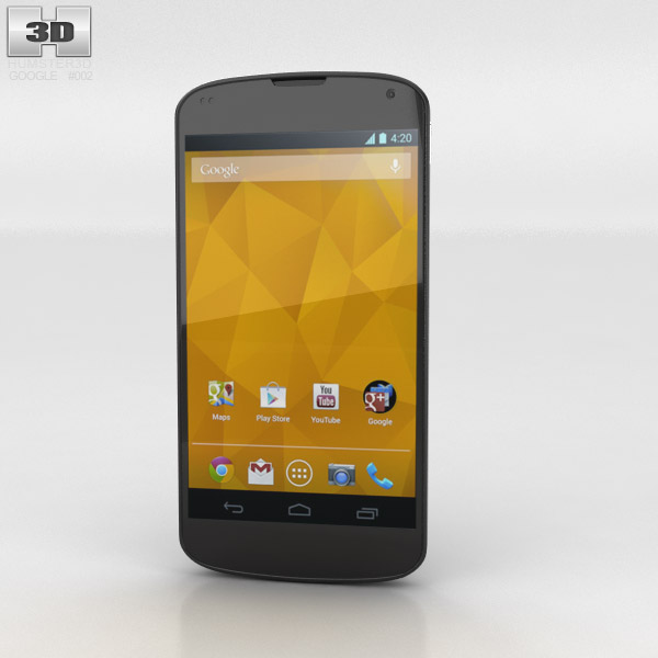 Google Nexus 4 3d model