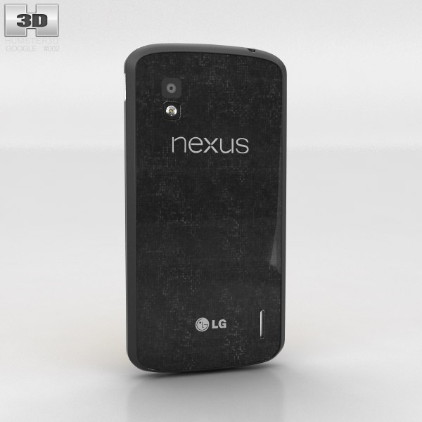 Google Nexus 4 Black 3d model