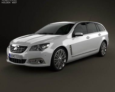 3D model of Holden VF Commodore Calais V sportwagon 2013
