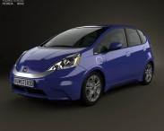 3D model of Honda Fit (Jazz) EV 2013
