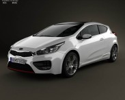 3D model of Kia Pro Ceed GT 2014