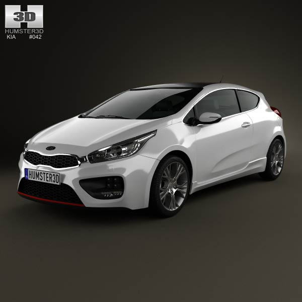 Kia Pro Ceed GT 2014 3d car model