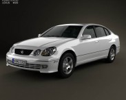 3D model of Lexus GS (S160) 2004