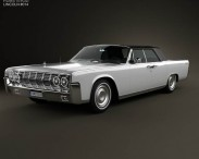 3D model of Lincoln Continental convertible 1964