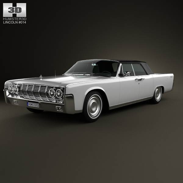Lincoln Continental convertible 1964 3d car model