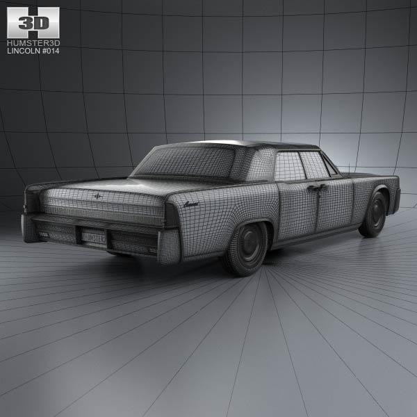 lincoln continental convertible 1964 3d model humster3d. Black Bedroom Furniture Sets. Home Design Ideas