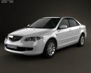 3D model of Mazda 6 sedan 2002