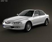 3D model of Mazda Xedos 6 (Eunos 500) 1992
