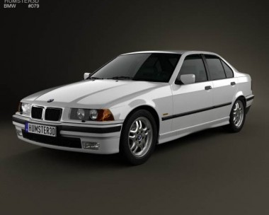 3D model of BMW 3 Series (E36) sedan 1994