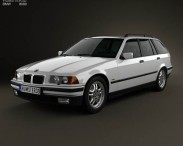 3D model of BMW 3 Series (E36) touring 1994