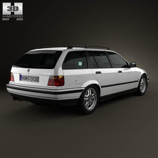 BMW 3 Series (E36) touring 1994 3d model