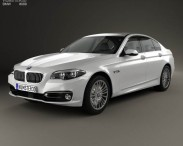 3D model of BMW 5 Series (F10) sedan 2014