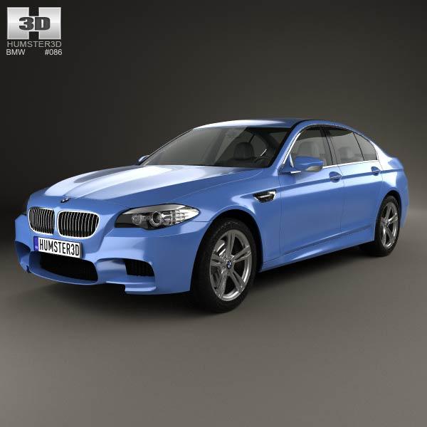 BMW M5 sedan (F10) 2012 3d car model