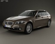 3D model of BMW 5 Series (F11) touring 2014