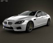 3D model of BMW M6 Gran Coupe (F06) 2013