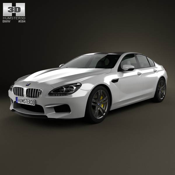 BMW M6 Gran Coupe (F06) 2013 3d car model