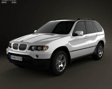 3D model of BMW X5 (E53) 2000