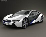 3D model of BMW i8 concept 2013