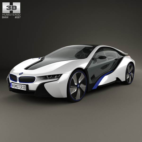 BMW i8 conept 2013 3d car model