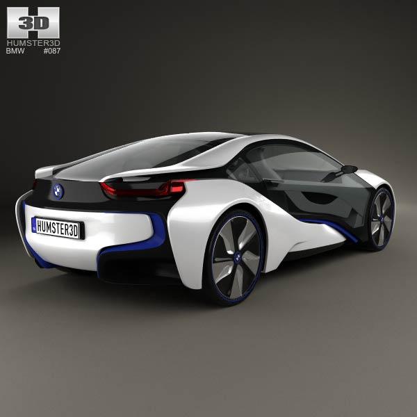 BMW i8 concept 2013 3d model