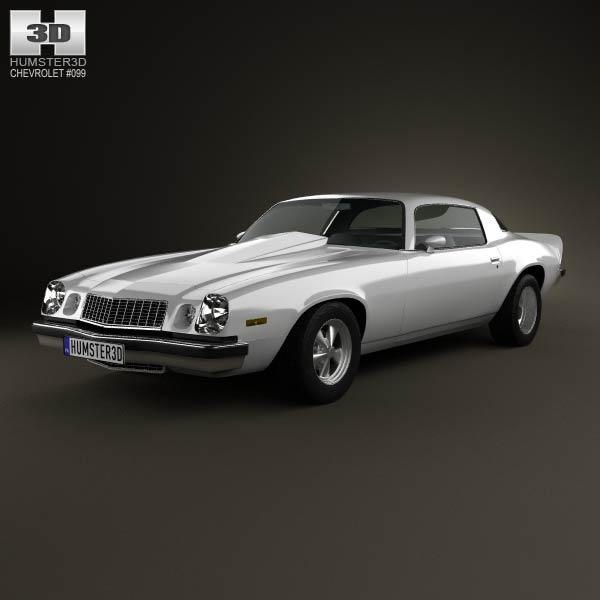 Chevrolet Camaro 1974 3d car model