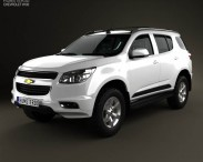 3D model of Chevrolet Trailblazer 2012