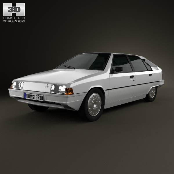 Citroen BX 1984 3d car model
