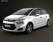 3D model of Citroen C4 Picasso 2014