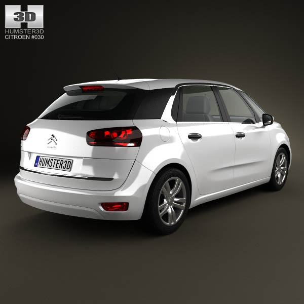 citroen c4 picasso 2014 3d model humster3d. Black Bedroom Furniture Sets. Home Design Ideas