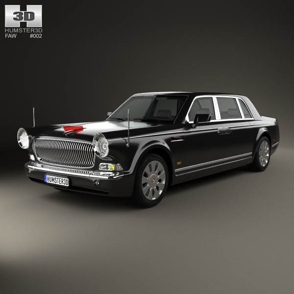 FAW Hongqi HQE 2010 3d car model