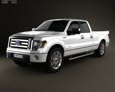3D model of Ford F-150 Platinum Super Crew Cab 2012