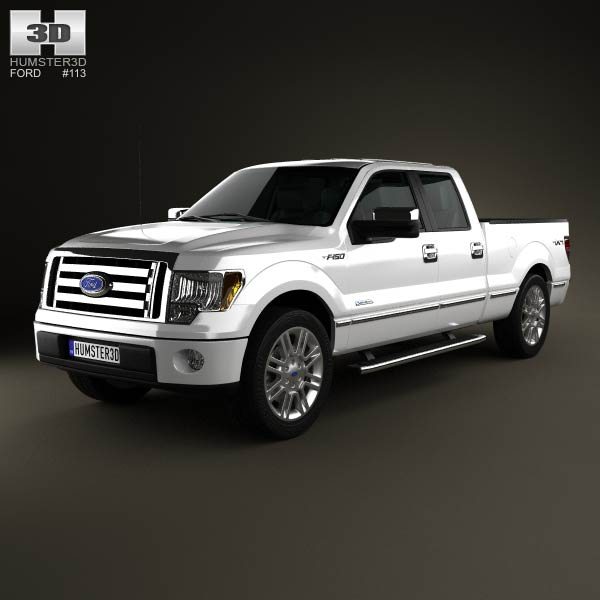 Ford F-150 Platinum Super Crew Cab 2012 3d model