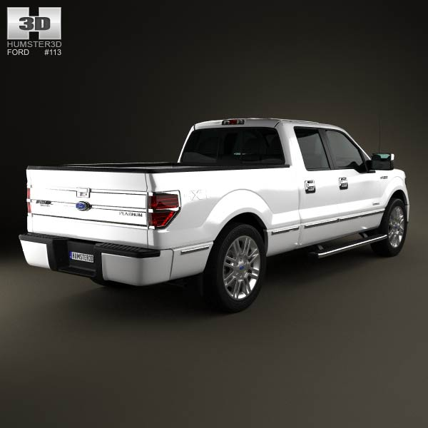 ford f 150 platinum super crew cab 2012 3d model humster3d. Black Bedroom Furniture Sets. Home Design Ideas