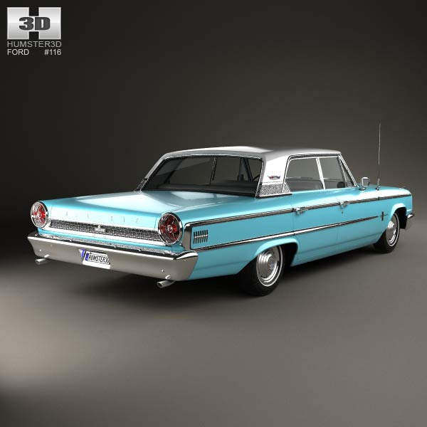 Ford Galaxie 500 4-door hardtop 1963 3d model