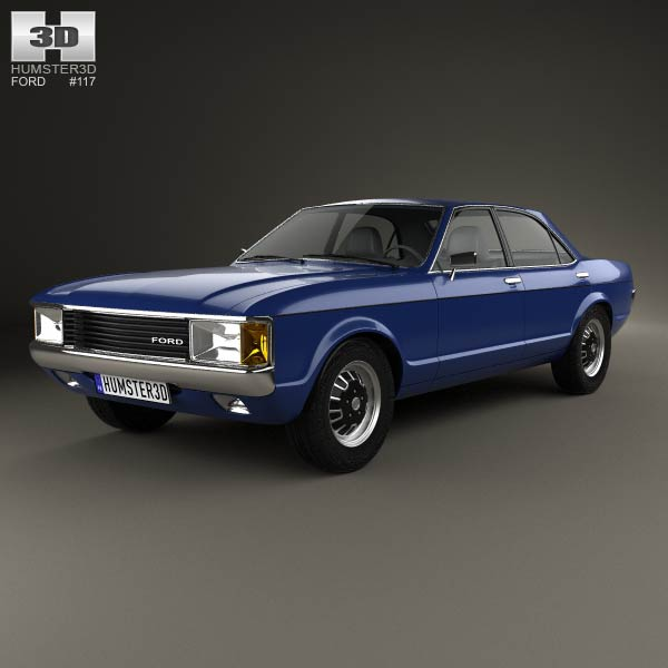 Ford Granada 4-door sedan EU 1972 3d model