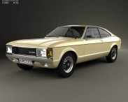 3D model of Ford Granada coupe EU 1972