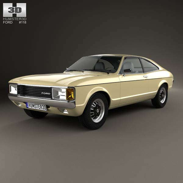Ford Granada coupe EU 1972 3d car model