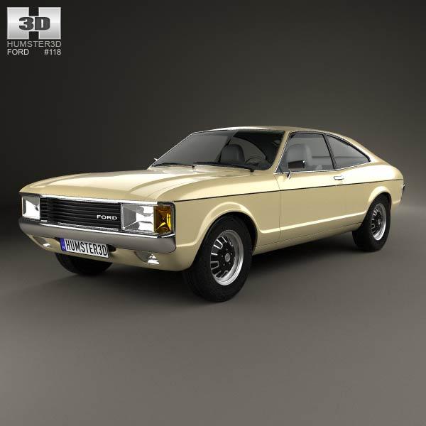 Ford Granada coupe EU 1972 3d car model