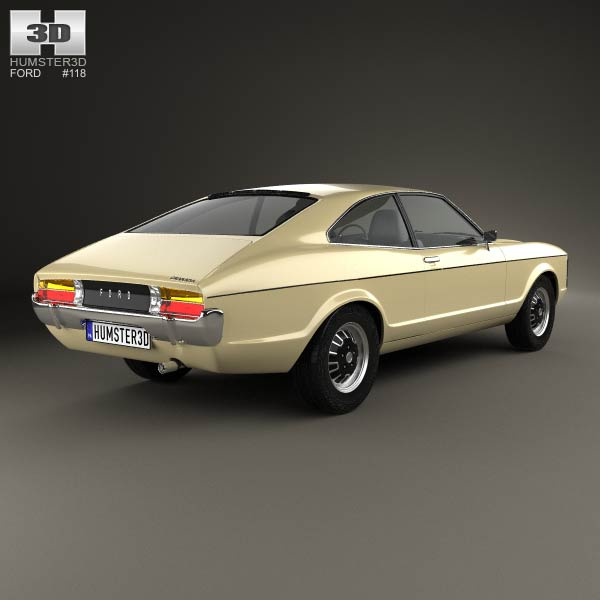 Ford Granada coupe EU 1972 3d model