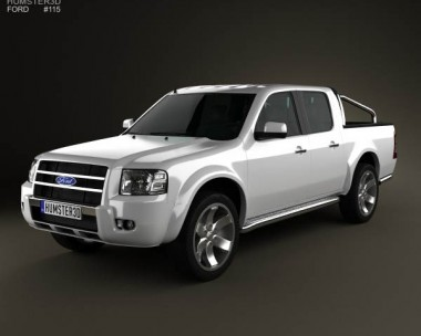 3D model of Ford Ranger Double Cab 2003
